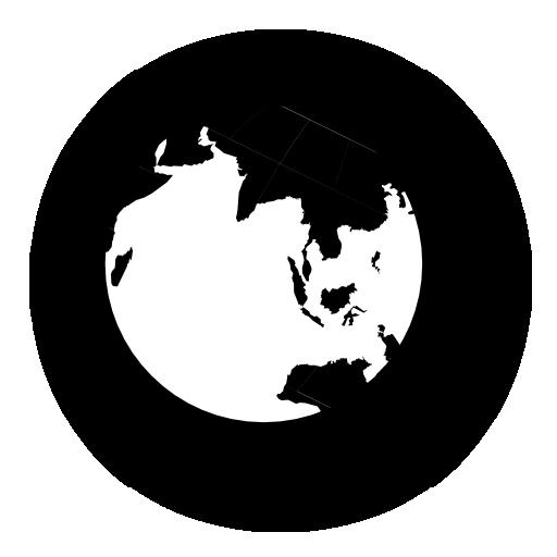 planet, globe, earth, black, world icon