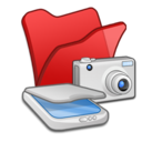 folder,red,scanner icon