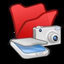 folder,red,scanner icon