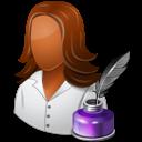 Dark, Female, Writer icon