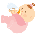 baby drinking icon
