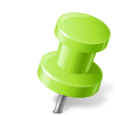 Map Marker Push Pin 2 Right Chartreuse icon