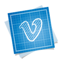 blueprint, social, vimeo icon