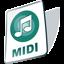 paper, document, midi, file icon