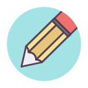 write, pencil, edit, schoole icon