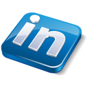 linkedin, social media icon