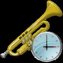 Clock, Trumpet icon