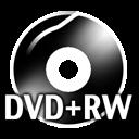 Black DVDplusRW icon