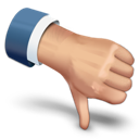 thumbs down, down, rate, thumbs icon