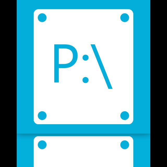 p, mirror icon