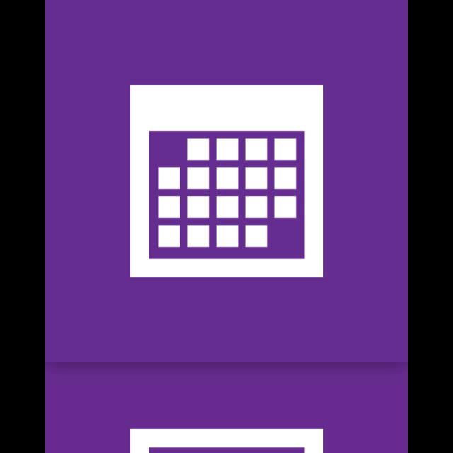 mirror, calendar icon