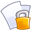 paper, file, lock, locked, security, document icon