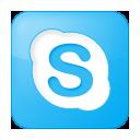 Blue, Box, Skype, Social icon
