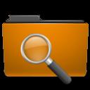 orange, seek, find, saved, folder, search icon
