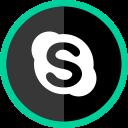 logo, social, online, skype, media icon