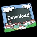 descending, descend, download, fall, decrease, down icon