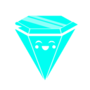 rave,diamond,blue icon