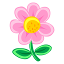 pink, flower, plant icon
