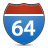 sign, highway, 64 bit, bit icon