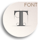 embed fonts icon