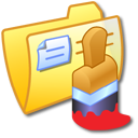 Folder Yellow Paint icon