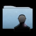 folder,blue,user icon