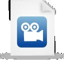 file, blue, document, paper icon