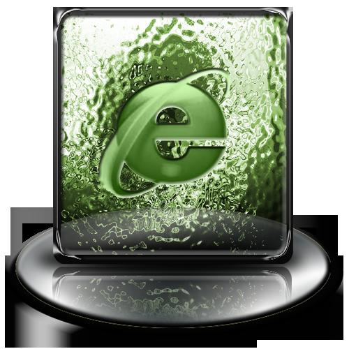 internet, green, classic, explorer icon