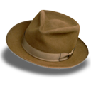hat, fedora, suede icon