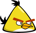 angry birds, yellow bird icon