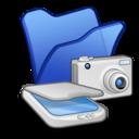folder,blue,scanner icon