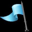 flag, mapmarker, left, azure icon