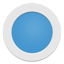 Blue, Circle, Light icon