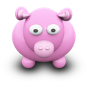 Cow, Pink icon