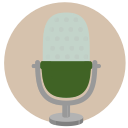 mic, vintage, microphone, condenser icon