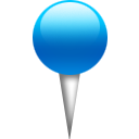 blue, pin, location icon