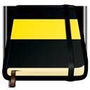 moleskine, yellow icon