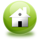 green, home, house icon