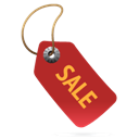 Label, Red, Sale icon