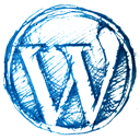Drawn, Hand, Wordpress icon