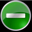 minus, circle, green, subtract, round icon