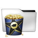 popcorn, video, movie, film, alt icon