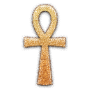 embossed, ankh icon