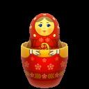 red matreshka inside icon