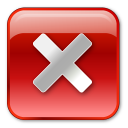 no, red, stop, box, close, cancel icon