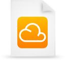 cloud, paper, orange, document, file icon