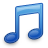 note, blue, music icon