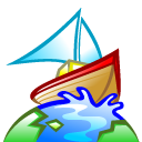 planet, earth, boat, browser, world, globe icon