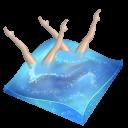 swimming, synchronized icon
