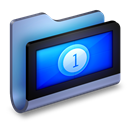 Blue, Folder, Movies icon